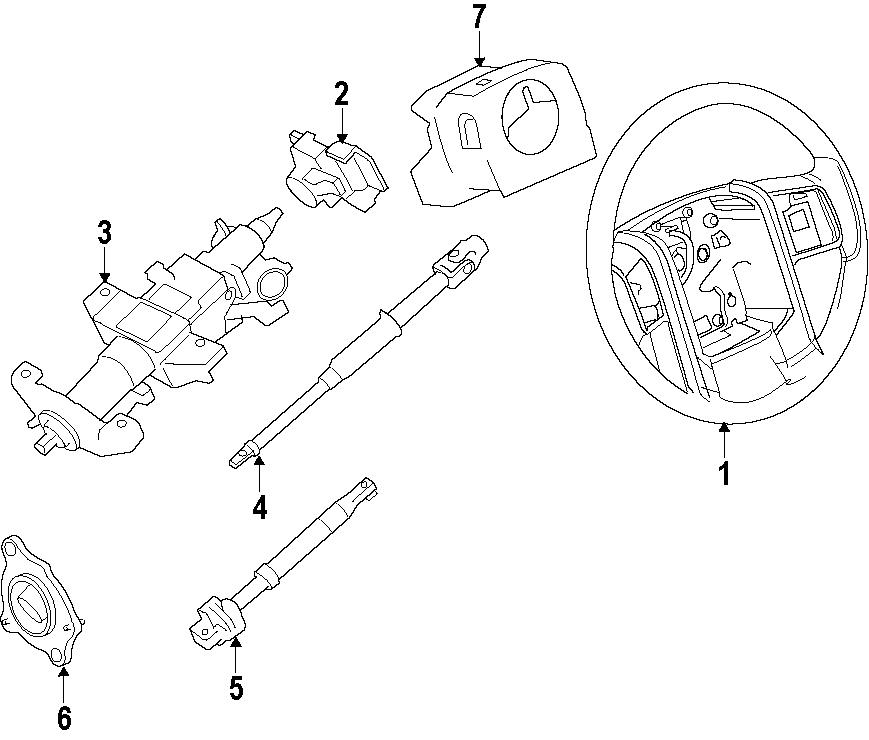 Ford F-250 Super Duty Steering Shaft. F250 Super Duty