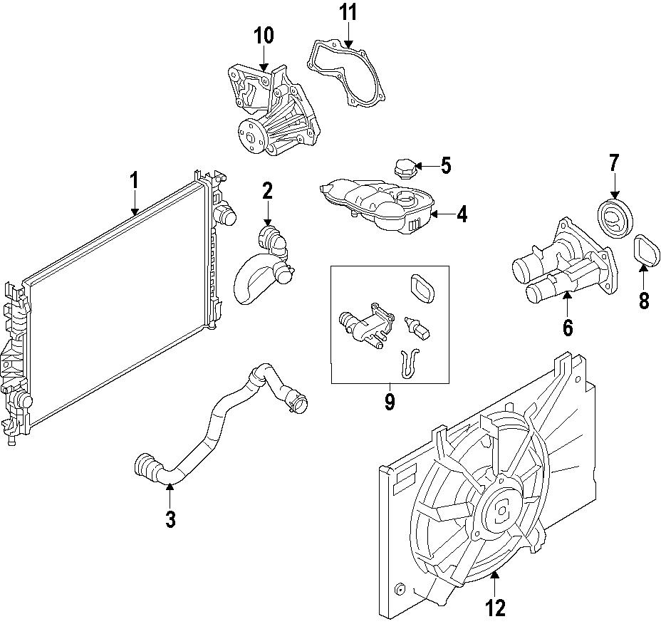 2016 Ford Transit Connect Tank. Reservoir. Radiator