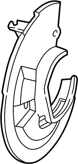 2011 Ford Crown Victoria Brake Dust Shield. Splash, Front