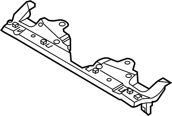 Ford Mustang Radiator Support Access Cover (Upper). 2013