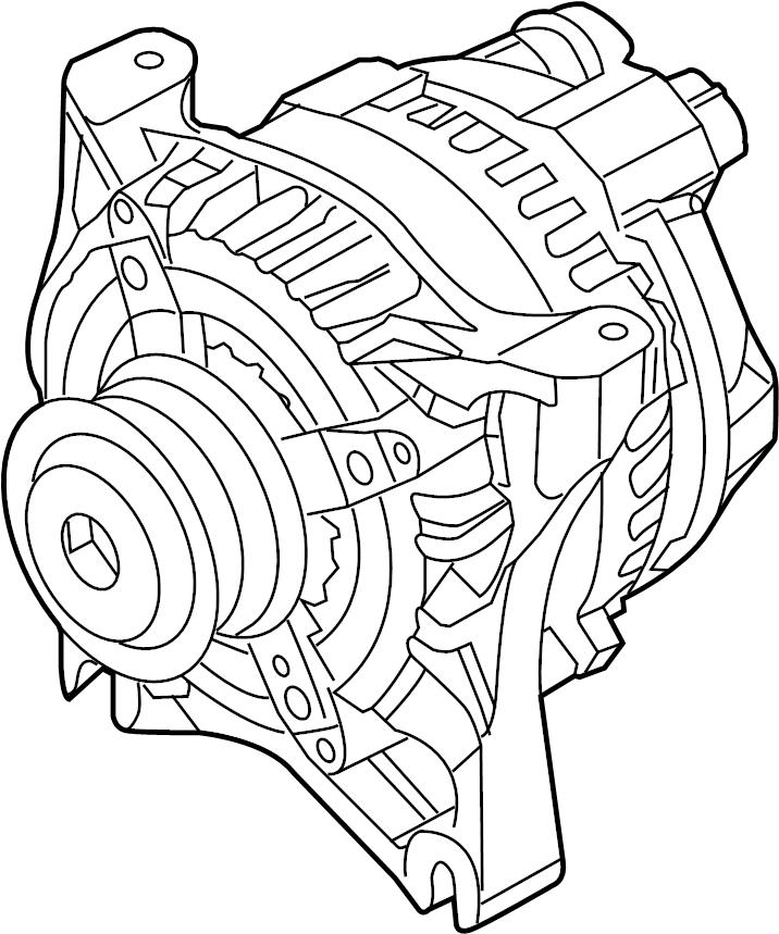 Ford Mustang Alternator. Trans, Battery, Manual