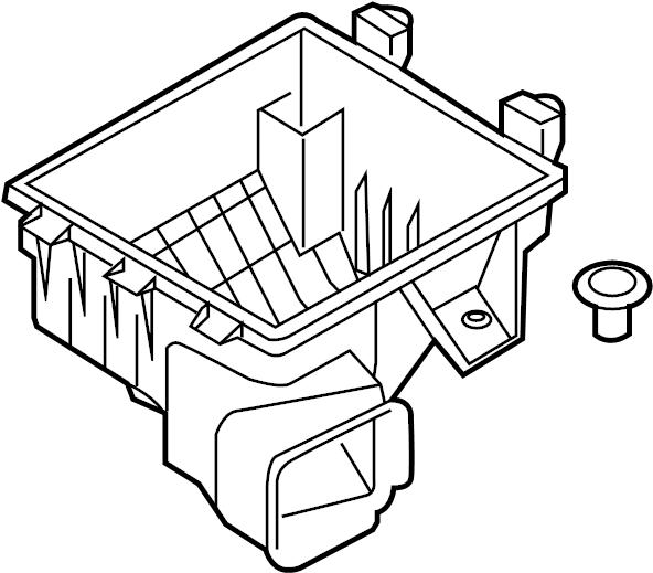 Ford Mustang Air Filter Housing. 4.0 LITER. Lower, INTAKE