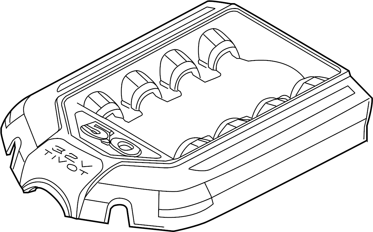 Ford Mustang Engine Cover. 5.0 LITER, manual trans