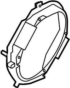 Ford Mustang Radio Speaker Bracket (Front). CONVERTIBLE