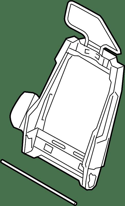 Ford Mustang Seat Back Frame. RECARO SEAT, coupe