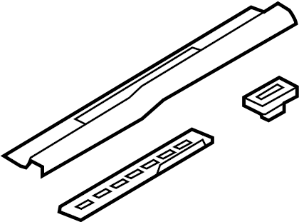Ford Mustang Door Sill Plate. W/chrome insert, w