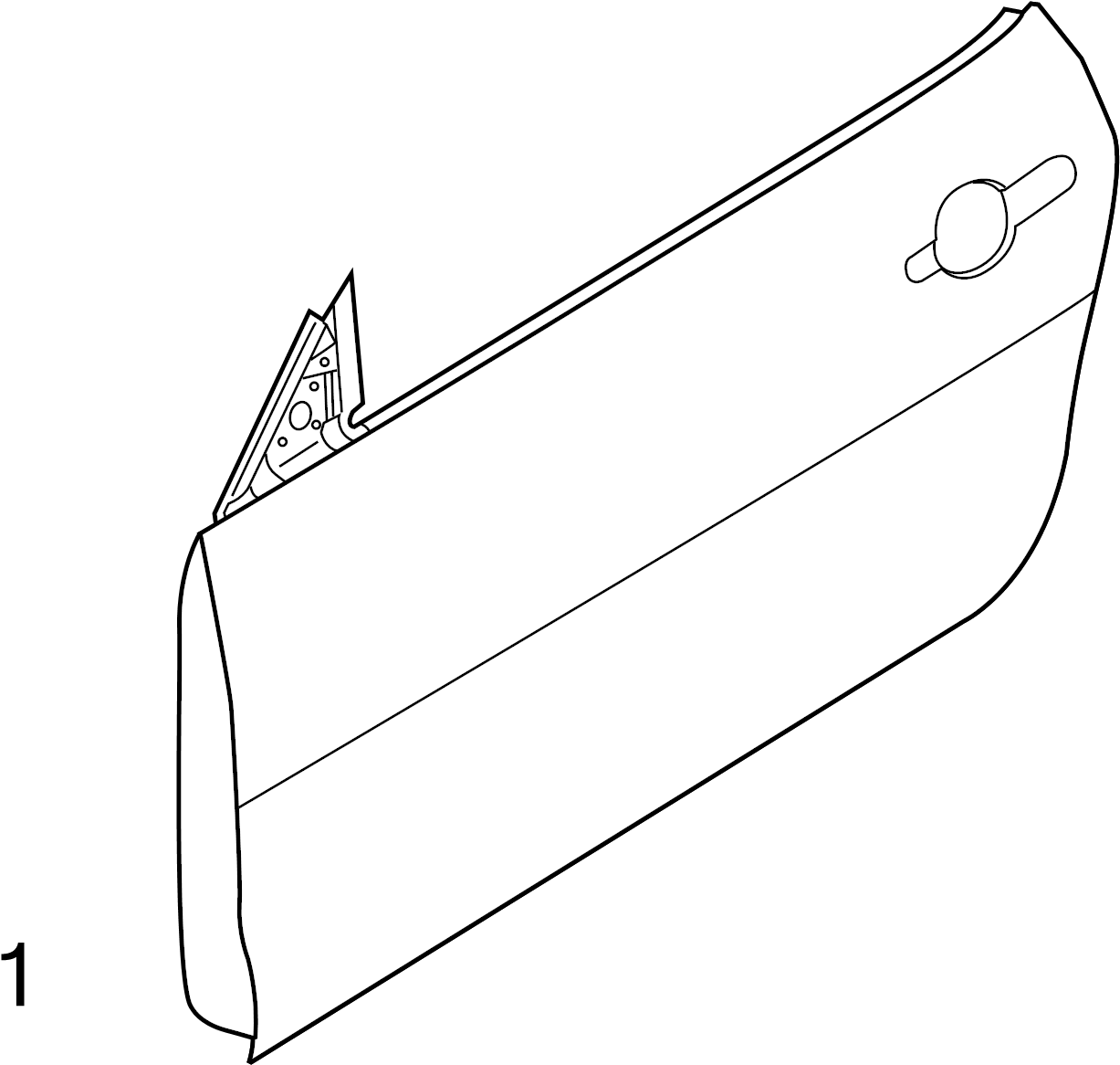 2012 Ford Mustang Door Outer Panel. Left, Convertible