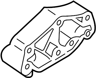 Ford Mustang Automatic Transmission Mount. INSULATOR