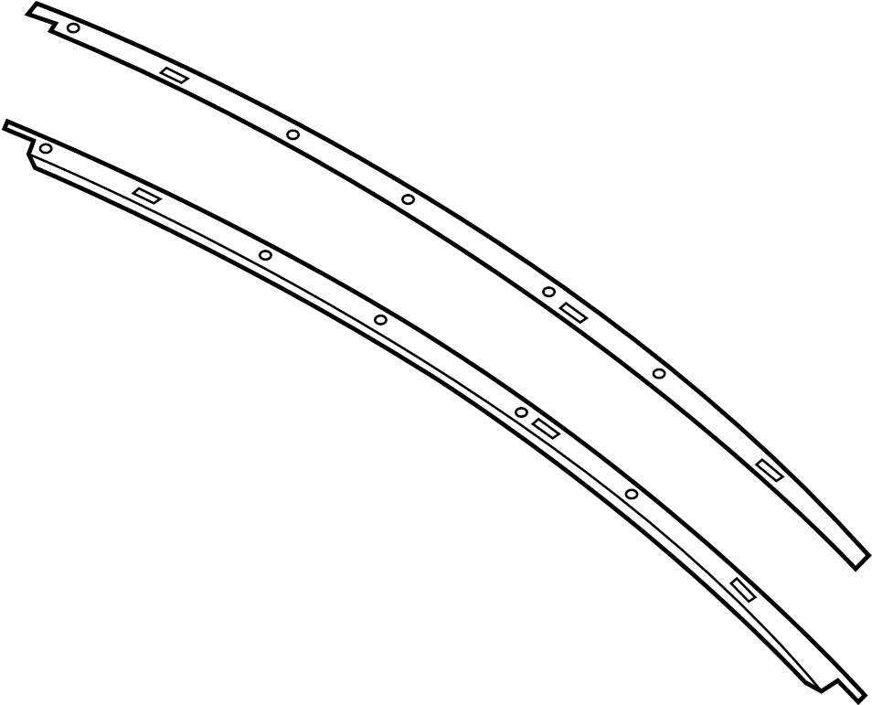 Ford Mustang Roof Molding. COUPE, black. TRIM, Right