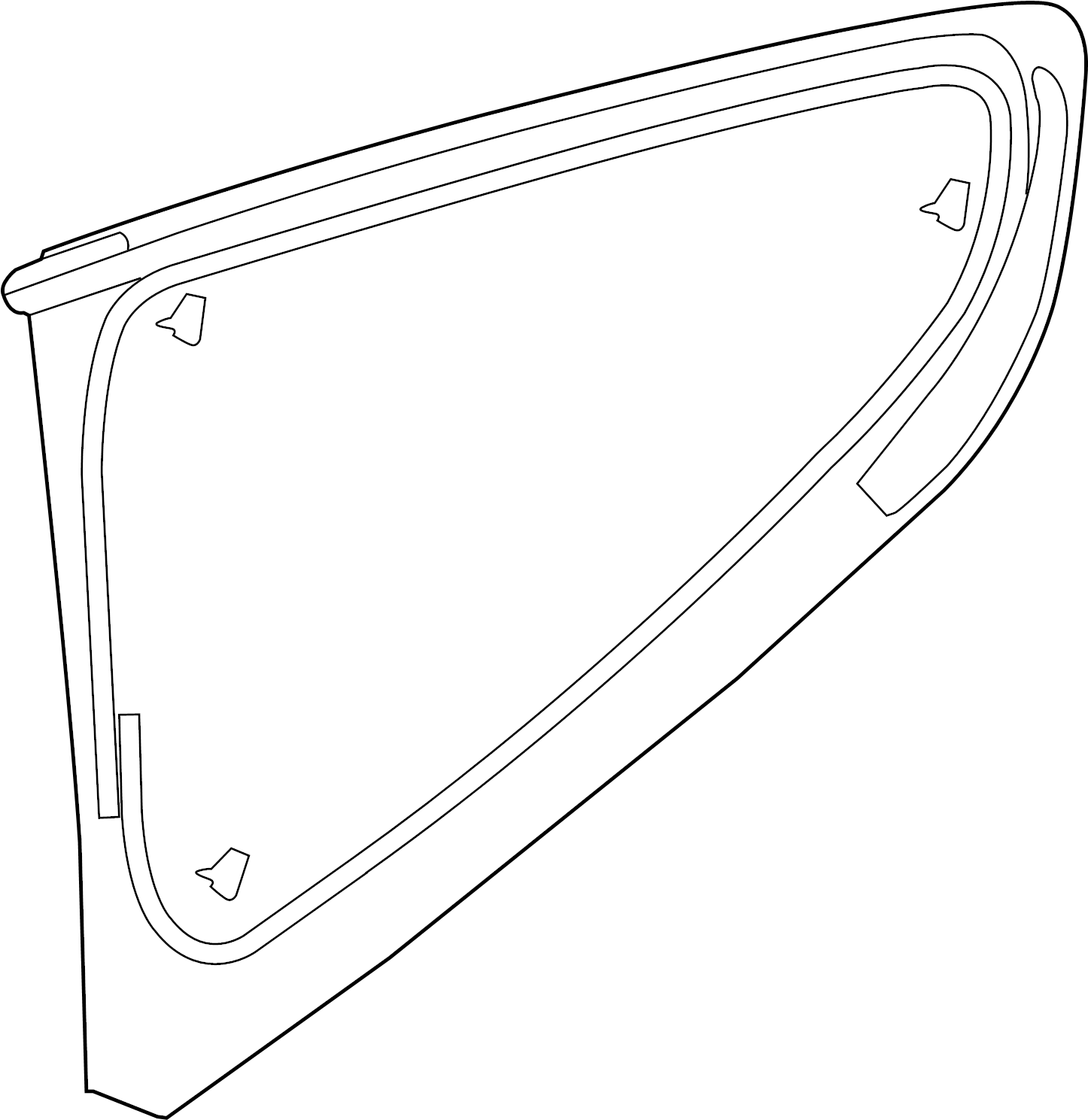 Ford Mustang Glass Quarter Window Rear Side