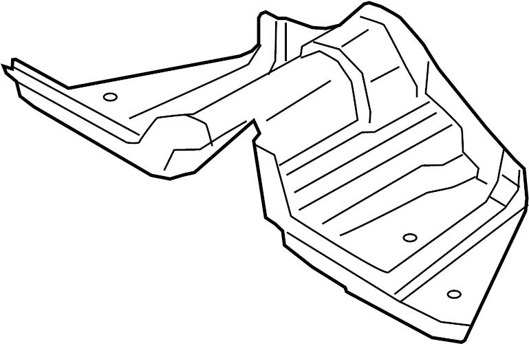 Ford Mustang Fuel Tank Shield. 5.0 LITER. Lower, Heat