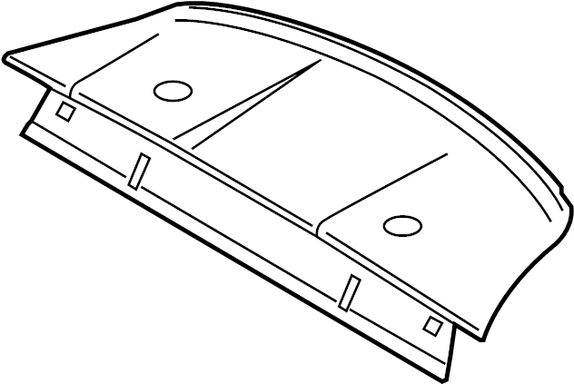 Ford Mustang Package Tray Trim. COUPE, w/SHELBY. BODY