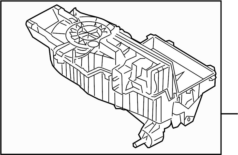 Ford Taurus Evaporator. Core. Case. AIR. (A/C