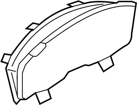 2008 Ford Taurus X Instrument Panel Lens. Sensor, Seat