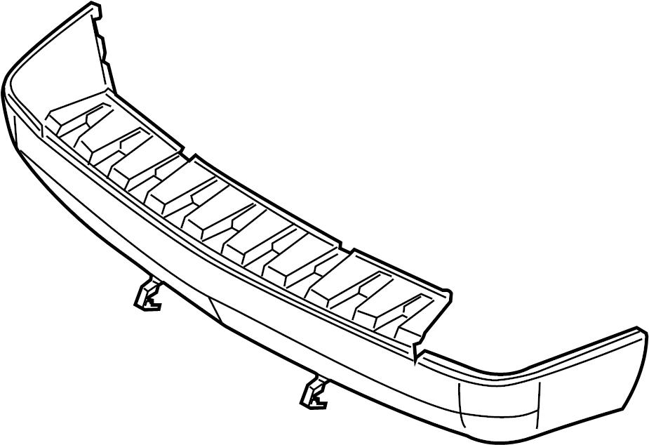 Ford Taurus X Bumper Cover (Lower). W/reverse sensors, w