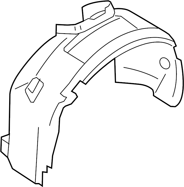 2014 Ford C-Max Fender Splash Shield (Front). Right, Liner