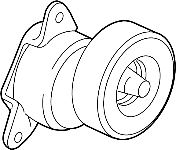 2009 Ford Focus Belt tensioner. Idler pulley. PULLEY ASY