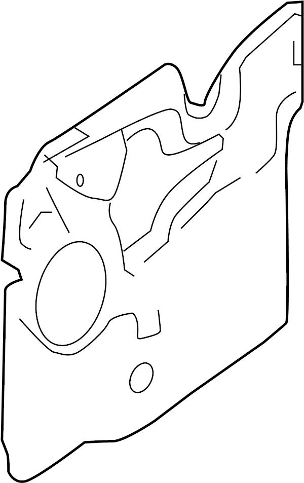 Ford Focus Door Water Deflector. REAR, Left, TRIM