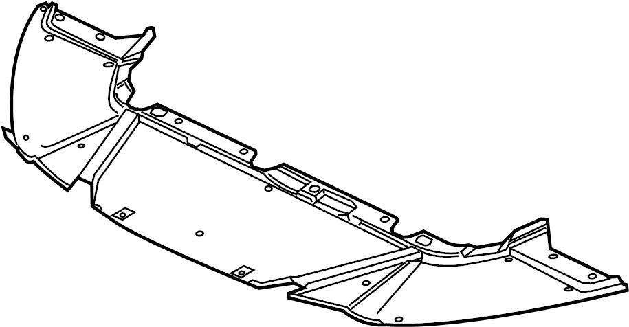 2015 Ford Focus Radiator Support Splash Shield (Front