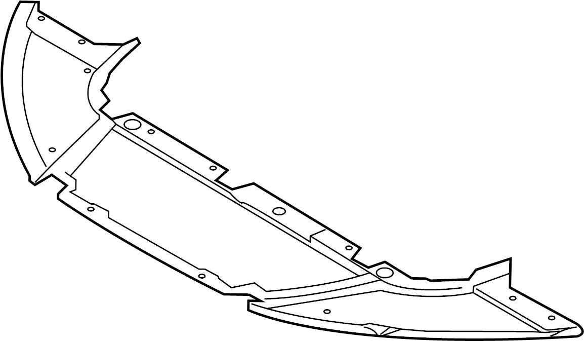 Ford Focus Radiator Support Splash Shield (Front, Lower