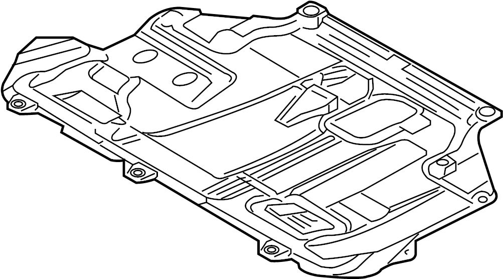 Ford Focus Shield. Cover. (Front, Lower). W/O RS W/O