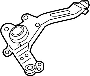 Ford Focus Windshield Wiper Motor Bracket. Mount