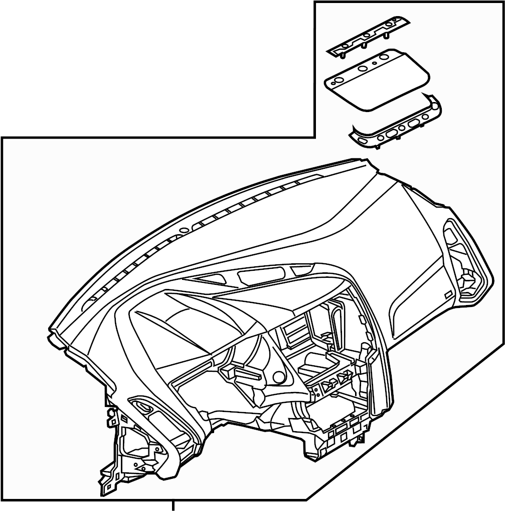 Ford Focus Dashboard Panel. Instrument panel. PANEL
