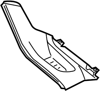 Ford Focus Console Trim Panel. LOW LINE, stone. Lower