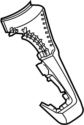Ford Focus Console Trim Panel. HIGH LINE, w/ST, black