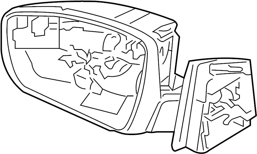2015 Ford Focus Door Mirror (Rear). Replace, Repair