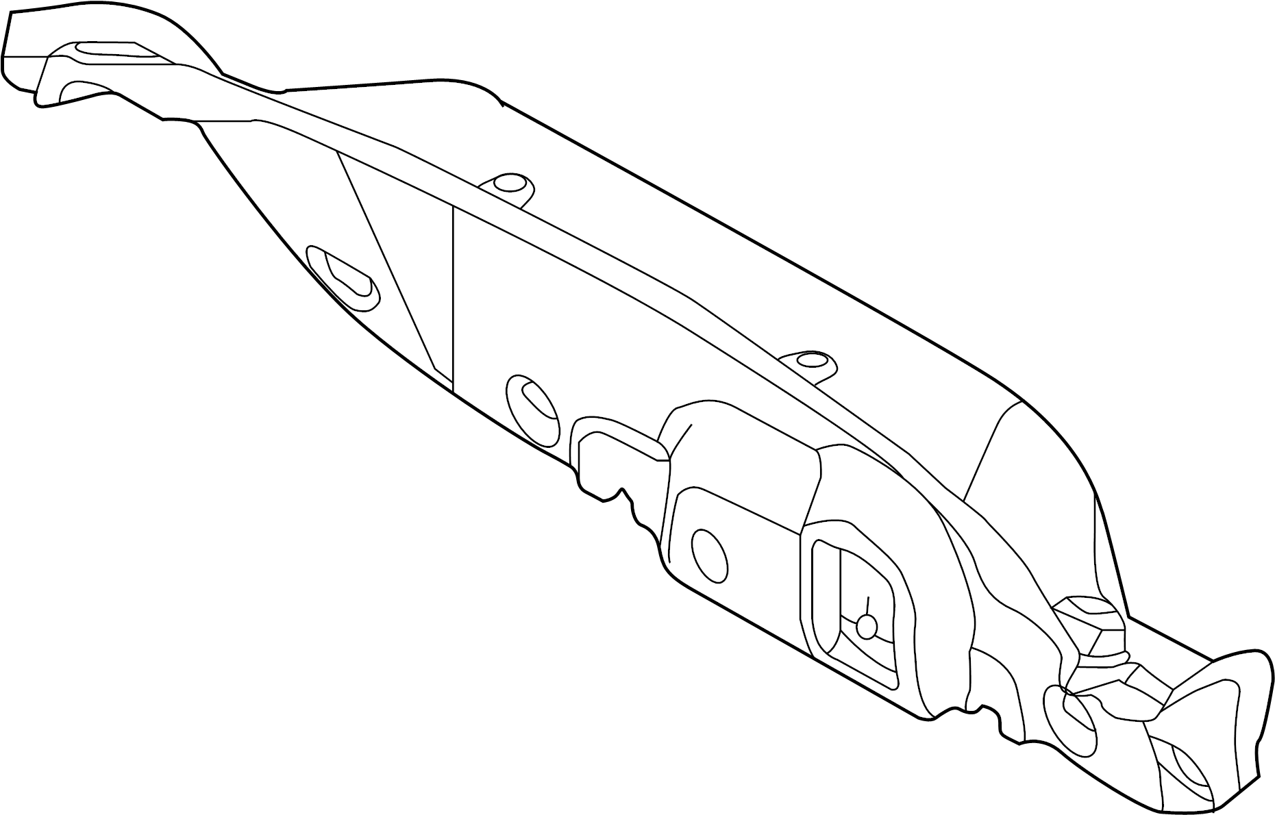 Ford Focus Deck Lid Trim Trunk