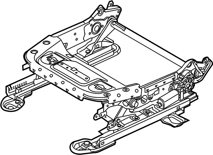 Ford Focus Seat Track. 2012-14, w/power. W/O RECARO SEATS