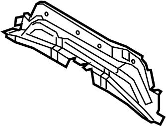 2013 Ford Floor Pan Crossmember (Front). BODY, ENERGI