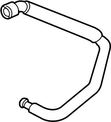 Ford Taurus Engine Coolant Overflow Hose. 3.0 LITER DOHC