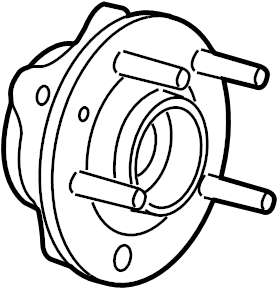 2005 Ford Freestyle Wheel Bearing and Hub Assembly (Front