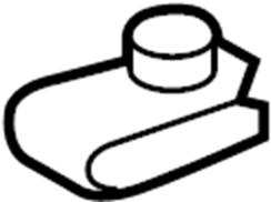 2015 Ford Explorer Nut. Deflector. Support. Radiator