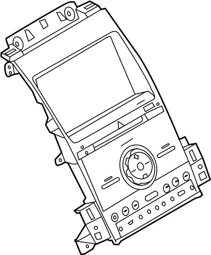 Ford Police Interceptor Sedan Control panel. Controller