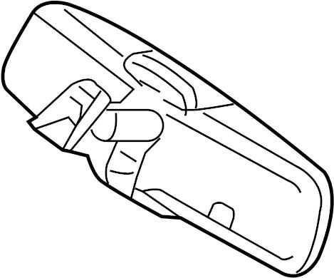2010 Ford Explorer Sport Trac Interior Rear View Mirror