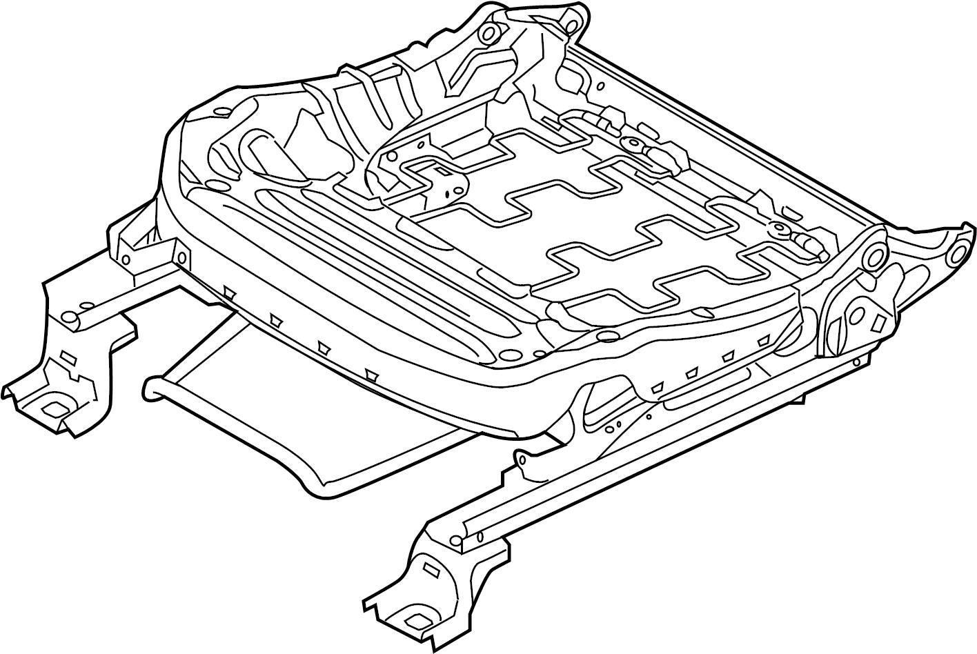 Ford Taurus Seat Track. MANUAL PASSENGER SEAT, 2013-19