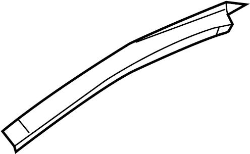 2010 Ford Taurus Roof Side Rail (Upper). W/O SUNROOF. W