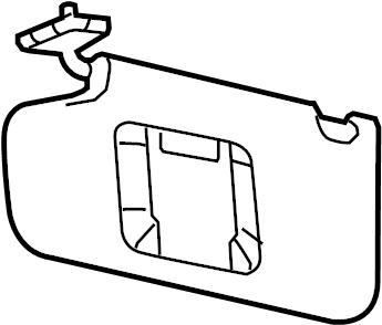 Ford Taurus Sun Visor. SE, SEL, LIMITED, SHO, SE. TRIM