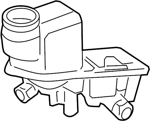 2008 Ford Fusion Brake Master Cylinder Reservoir. Trans