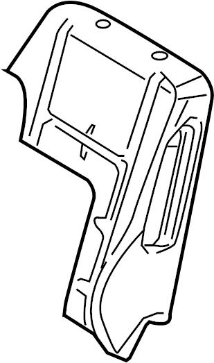 Ford Fusion Seat Back Cushion. W/FOLD FLAT SEAT, 2010. W
