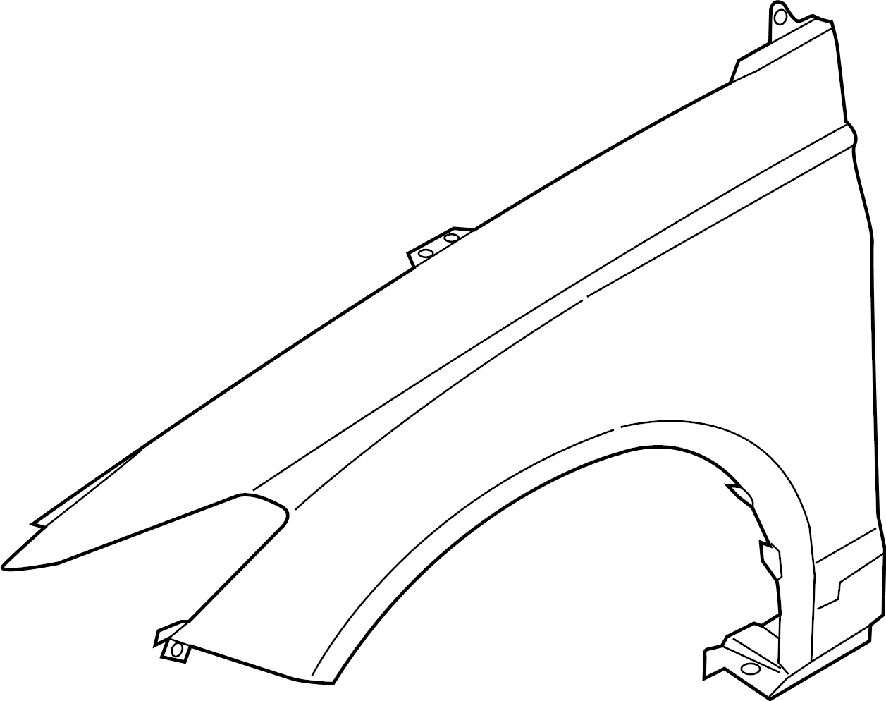 2014 Ford Fusion Fender (Front). W/ENERGI. W/O ENERGI