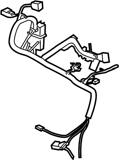 Ford Fusion Engine Wiring Harness. Fuel Injector Connector