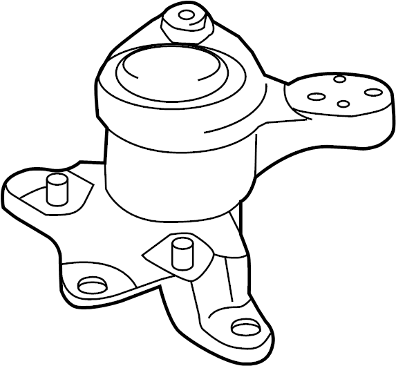 Ford Fusion Engine Mount (Front). LITER, TRANS, Manual