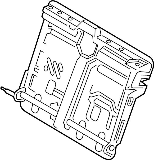 Ford Fusion Seat Back Frame (Rear, Upper). CENTER, Armrest