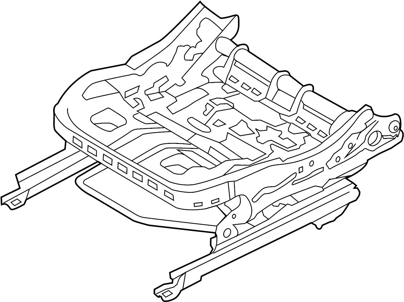 Ford Fusion Seat Track. MANUAL SEAT, PASSENGER SEAT