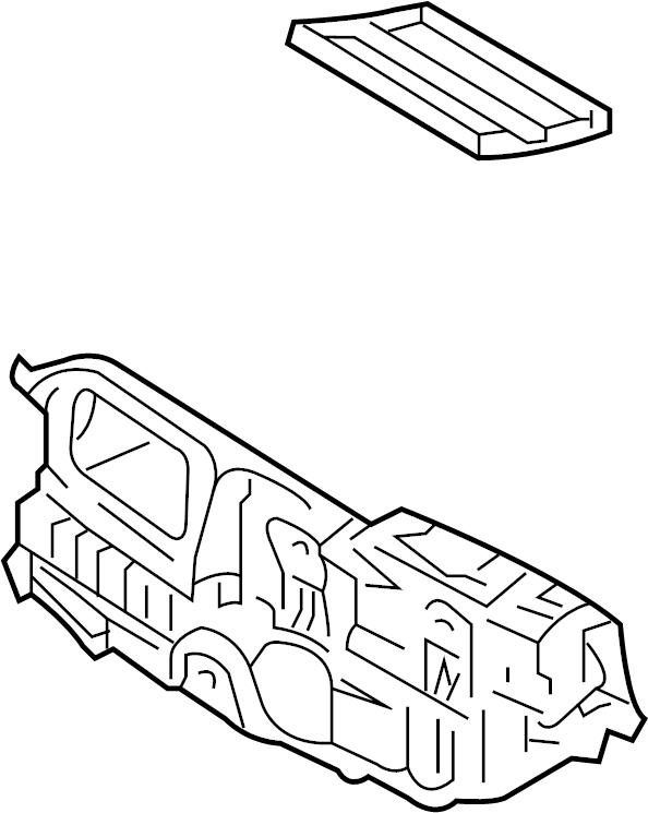 Ford Fusion A/c evaporator core case. Air, heater, dual