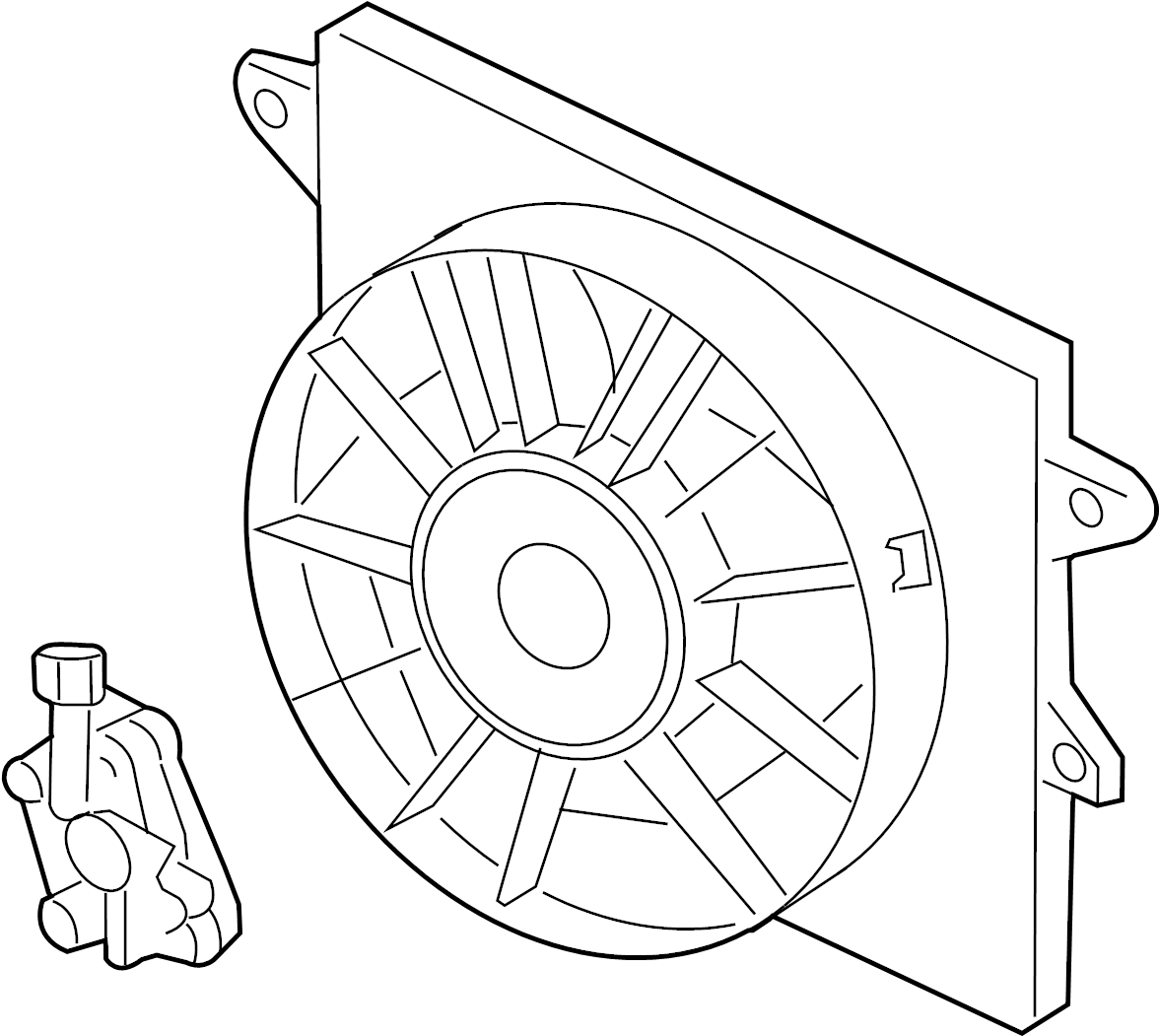 Ford Thunderbird Engine Cooling Fan Assembly. Radiator